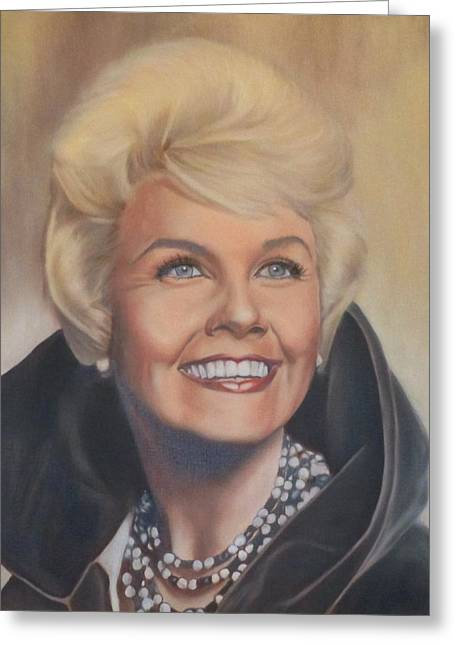 Doris Day Paintings Greeting Cards - Doris Day Greeting Card by Mark Robinson
