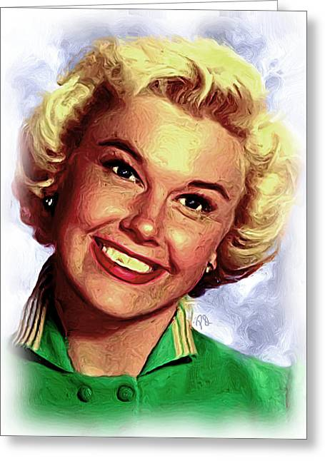 Doris Day Paintings Greeting Cards - Doris Day Greeting Card by Paul Quarry