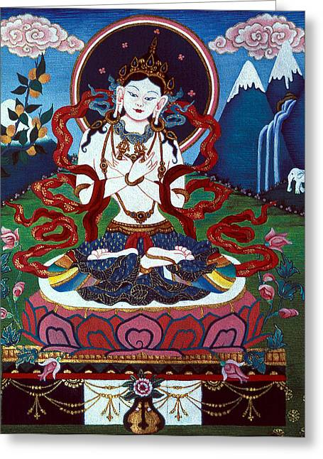 Carat Paintings Greeting Cards - Dorje Sempa Greeting Card by Deirdre Donovan