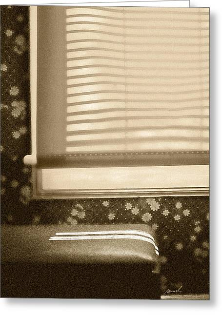 Venetian Blinds Greeting Cards - Dorment Shadows Greeting Card by The Art of Marsha Charlebois