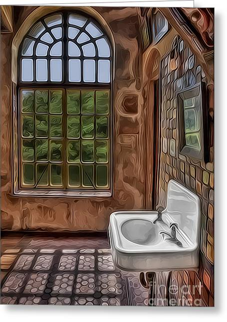 Byzantine Greeting Cards - Dormer And Bathroom Greeting Card by Susan Candelario