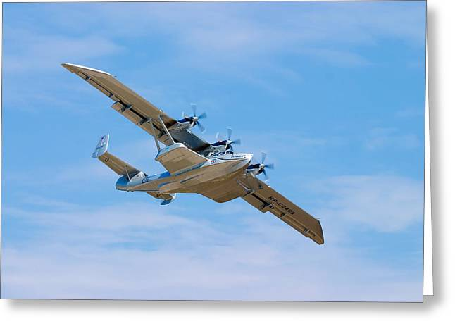 Air Shows Greeting Cards - Dornier Do-24 Greeting Card by Adam Romanowicz