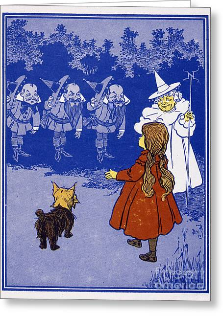 The North Greeting Cards - Dorothy And The Witch Greeting Card by Granger