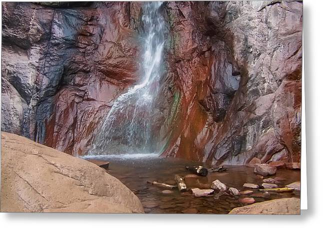 Waterfall Image Greeting Cards - Dorothy Falls 2 Greeting Card by Chris Flees