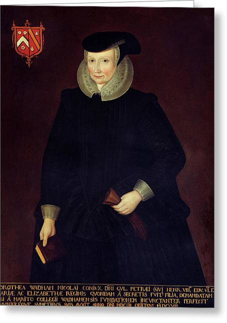 Dorothy Wadham By Willem Sonmans Greeting Card by Bodleian Museum/oxford University Images