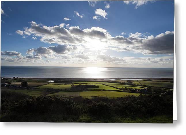 Burton Greeting Cards - Dorset Seascpae Greeting Card by Ollie Taylor