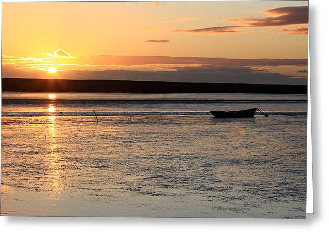 Dorset Sunset Greeting Card by Ollie Taylor