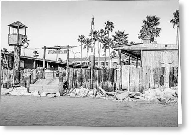 American Fleet Greeting Cards - Dory Fish Market Newport Beach Panorama Photo  Greeting Card by Paul Velgos