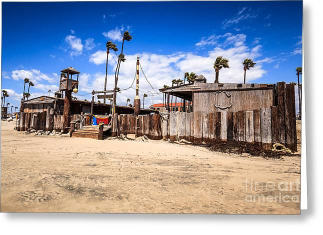 Dory Fishing Fleet Market in Newport Beach California Greeting Card by Paul Velgos