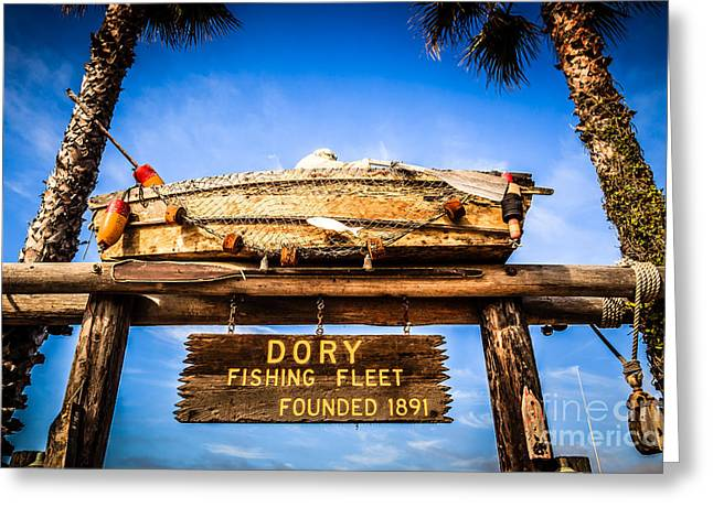 American Fleet Greeting Cards - Dory Fishing Fleet Picture Newport Beach California Greeting Card by Paul Velgos