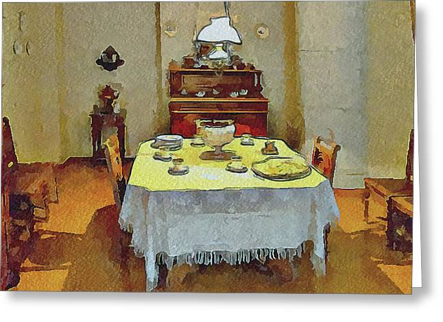 This Is It. Greeting Cards - Dostoevskys Dining Room Greeting Card by Yury Malkov