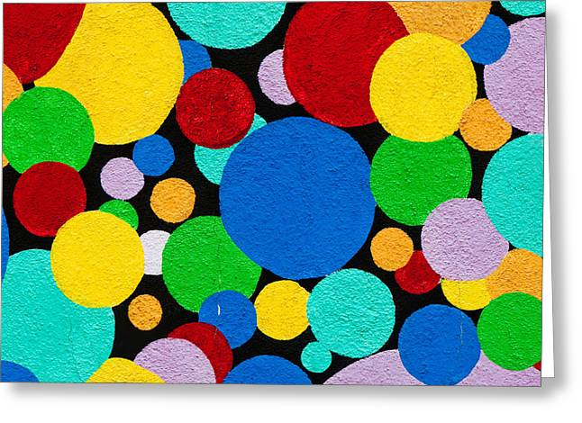 Splashy Art Greeting Cards - Dot Graffiti Greeting Card by Art Block Collections