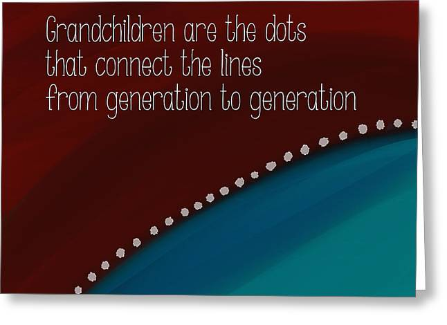 Grandchildren Greeting Cards - Dots and Lines Greeting Card by Bonnie Bruno