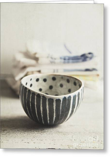 Stoneware Photographs Greeting Cards - Dots And Stripes Greeting Card by Elena Nosyreva