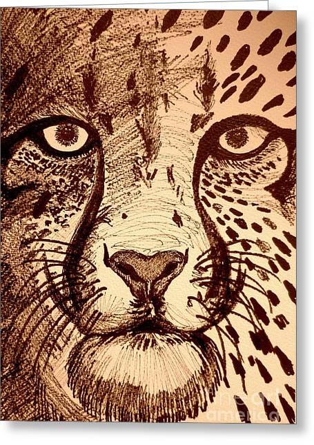 Wild Life Drawings Greeting Cards - Dots Greeting Card by Roberto Gagliardi