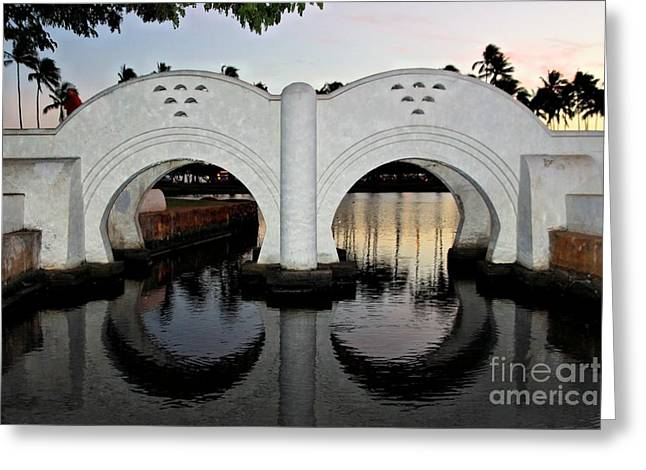 Ala Moana Greeting Cards - Double Arch Ala Moana Greeting Card by DJ Florek