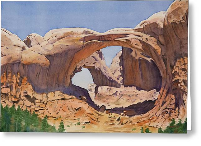 Arch Greeting Cards - Double Arch Greeting Card by Christopher Reid
