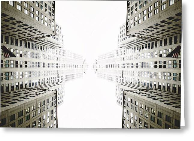 Chrysler Building Digital Art Greeting Cards - Double Deco Greeting Card by Natasha Marco