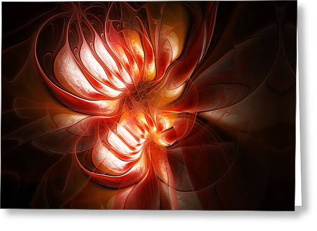 Floral Digital Art Digital Art Greeting Cards - Double Delight Greeting Card by Amanda Moore