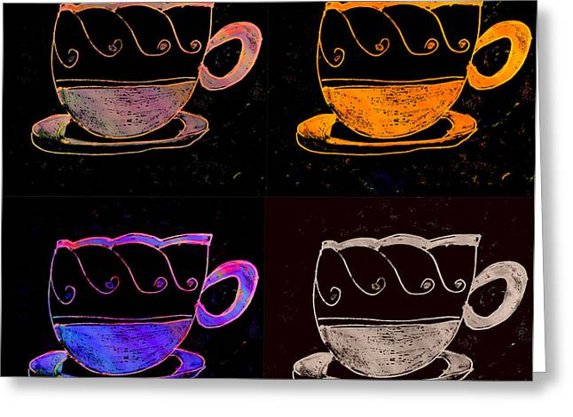 Tea For Two Greeting Cards - Double Double Vision Greeting Card by Melissa Osborne