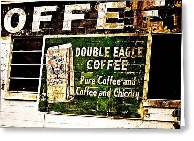 Double Eagle Coffee Greeting Card by Scott Pellegrin