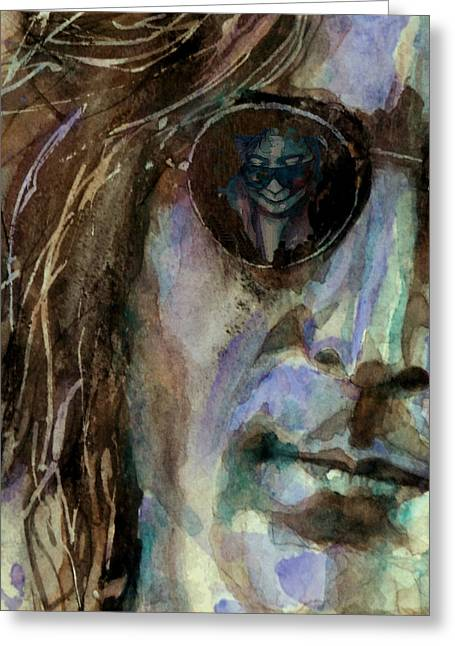 Singer Paintings Greeting Cards - Double Fantasy Greeting Card by Paul Lovering