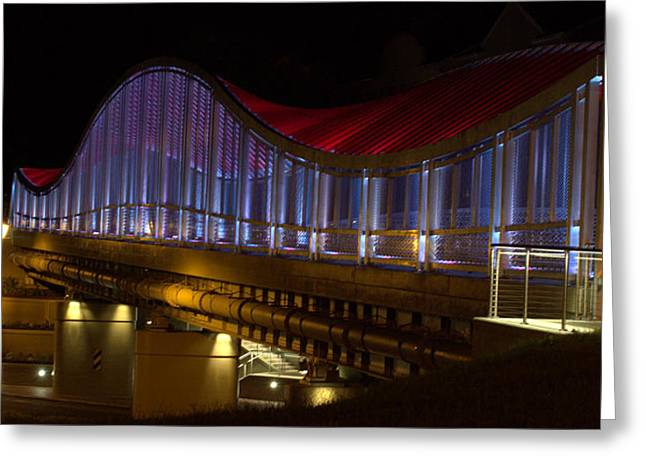 Helix Greeting Cards - Double Helix Footbridge Greeting Card by Farol Tomson