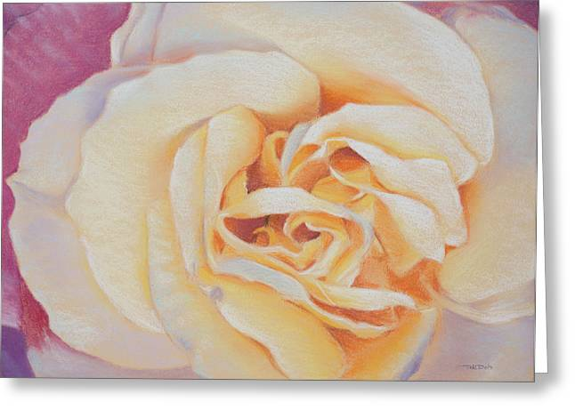 Yellows Pastels Greeting Cards - Double Helix Rose Greeting Card by Christopher Reid