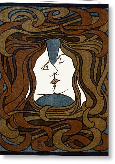 Orgasm Greeting Cards - Double Medusa Illustration Panel Greeting Card by Daniel Hagerman