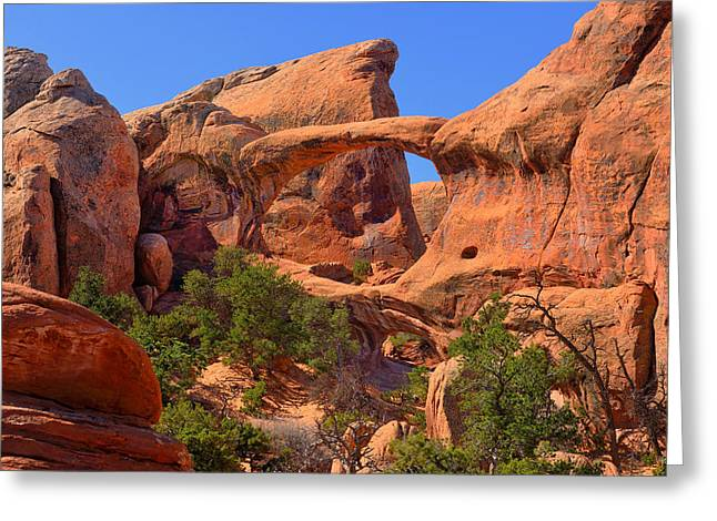 Double O Arch Greeting Cards - Double O Arch Greeting Card by Greg Norrell