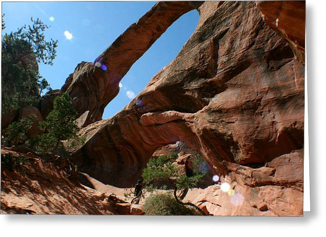 Double O Arch Greeting Cards - Double O Arch Greeting Card by Jon Emery