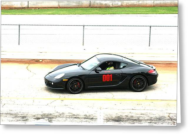 Racecar Number Greeting Cards - Double O One Greeting Card by Stacy C Bottoms