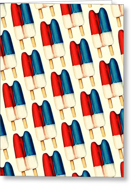 Children Ice Cream Greeting Cards - Double Popsicle Pattern Greeting Card by Kelly Gilleran