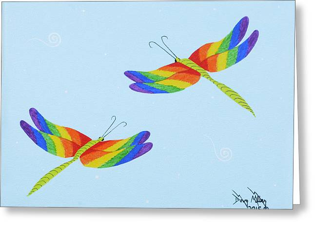 Double Rainbow 1 Greeting Card by Doug Miller