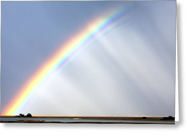 Double Rainbow Greeting Cards - Double Rainbow Arch  Greeting Card by Jo Ann Tomaselli