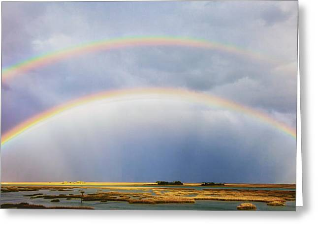Double Rainbow Greeting Cards - Rainbow Bridge Greeting Card by Jo Ann Tomaselli