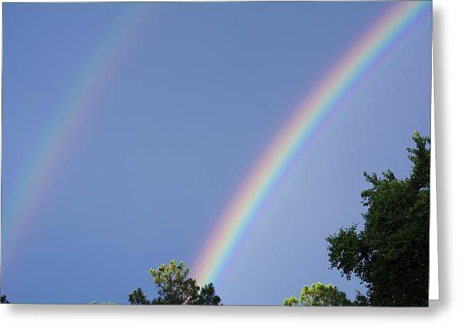 Double Rainbow Greeting Card by Kenneth Albin