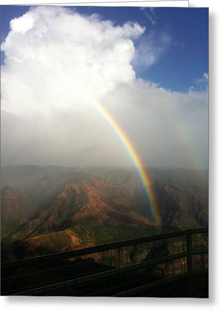 Double Rainbow Greeting Cards - Double Rainbow Greeting Card by Kimberly J White