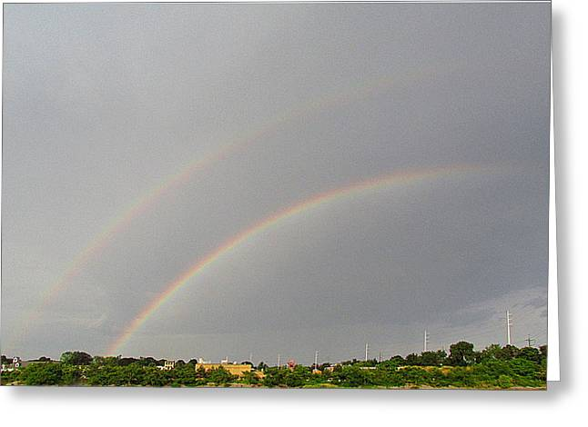 Double Rainbow Greeting Cards - Double Rainbow Greeting Card by Michael Baboval