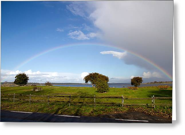 Waterscape Greeting Cards - Double Rainbow Greeting Card by EXparte SE