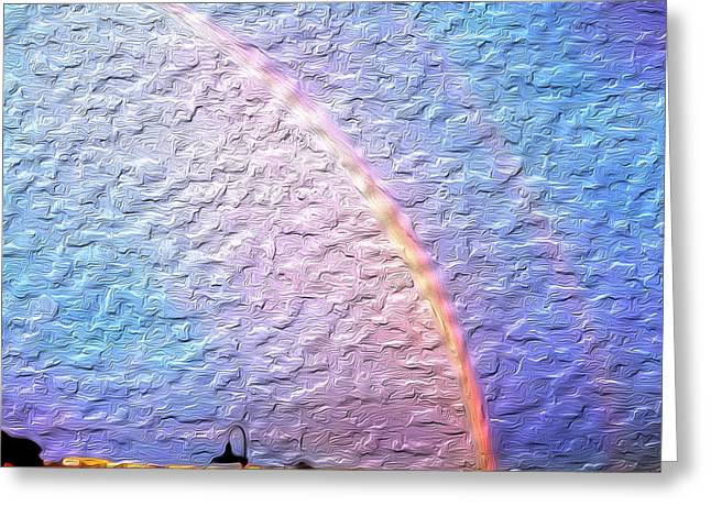 Double Rainbow Greeting Cards - Double Rainbow Greeting Card by Rick Smith