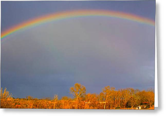 Double Rainbow Greeting Cards - Double Rainbow Greeting Card by Terri Morris