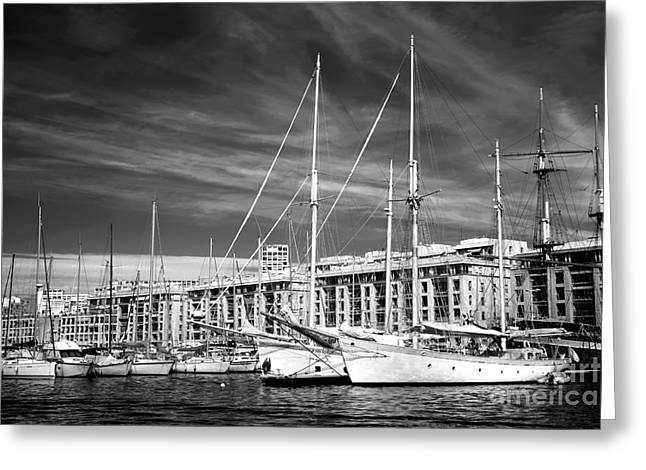 Sailboat Photos Greeting Cards - Double Sailboats Greeting Card by John Rizzuto