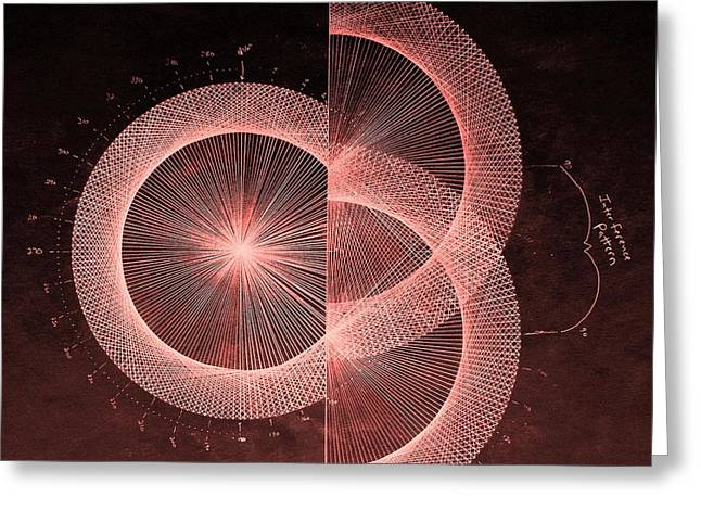 Fractal Greeting Cards - Double Slit Test  Greeting Card by Jason Padgett