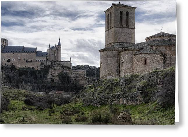 Europe Greeting Cards - Double the View Greeting Card by Joan Carroll