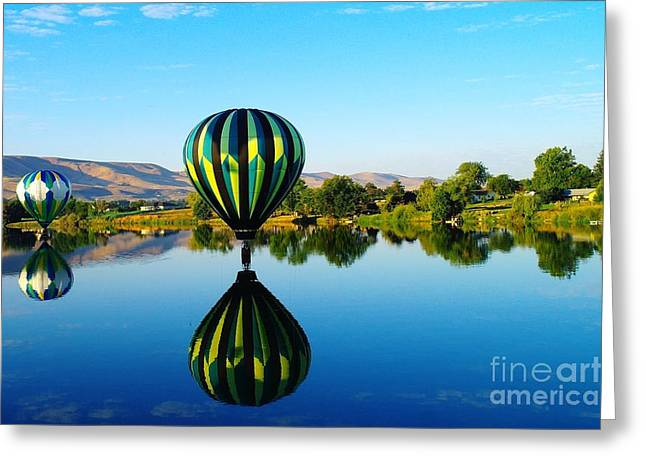 DOUBLE TOUCHDOWN  Greeting Card by Jeff  Swan