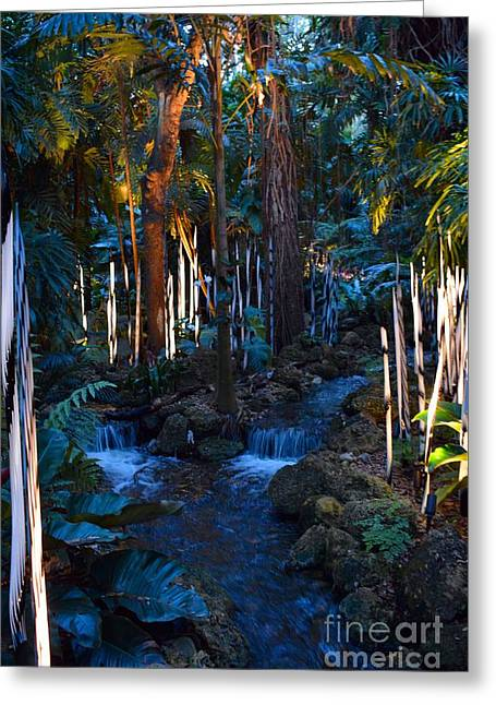 Double Waterfall Greeting Card by Edna Weber