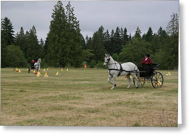 Horse And Cart Digital Art Greeting Cards - Doubling Up Greeting Card by Phil Dyer