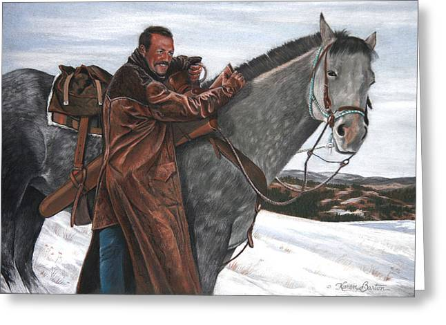 Hunting Pastels Greeting Cards - Doug Barton Greeting Card by Karen Barton