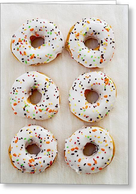 Doughnut Art Greeting Card by Kim Fearheiley